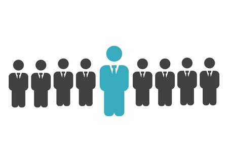 Leader vector recruitment and human resource sign. Leader vector Vector Illustratie