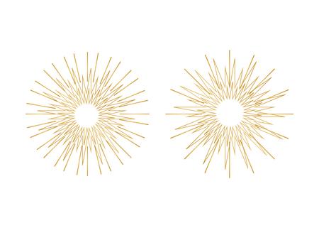 Icon sparkle line. Bright firework, decoration twinkle, shiny flash