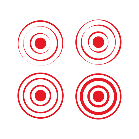 Pain red rings to mark. icon pain. Aim health icon pain