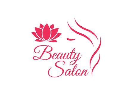 Beautiful woman face template for hair salon.  hair template