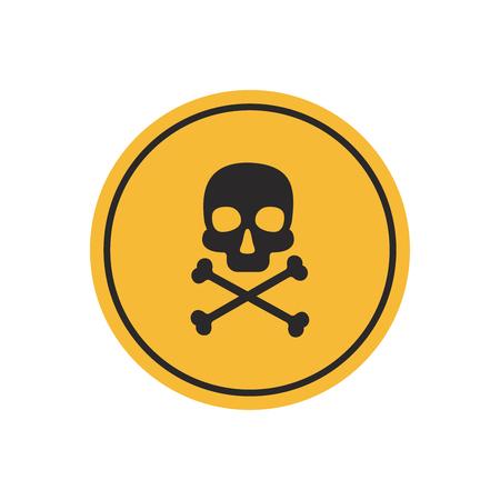 Danger vector sign. Skull and crossbones danger sign