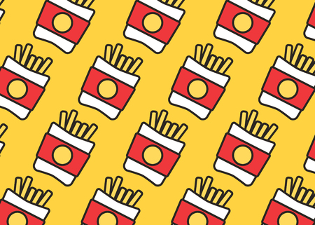 Fast food set. Vector fast food icons. Breakfast background burger vector
