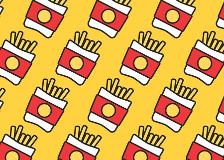 Fast-Food-Set. Vektor-Fast-Food-Symbole. Frühstückshintergrund-Burgervektor