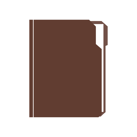 Folder with document. Folder file vector illustration Illustration
