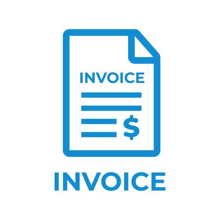 Ikona faktury. Płatności i rozliczeń faktur wektor ikona