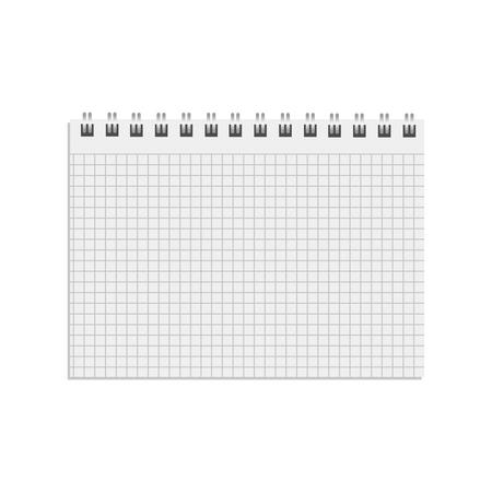 Cahier réaliste vierge. Bloc-notes de journal, page papier et cahier