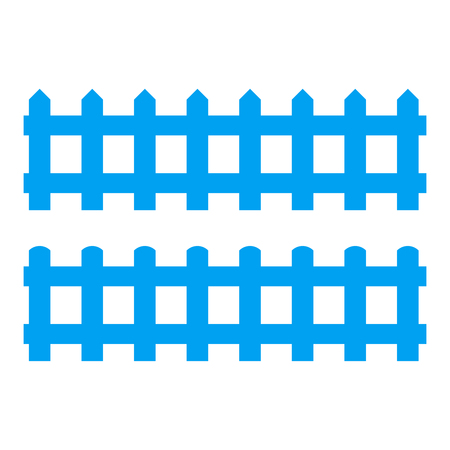 Silhouette Black Fence element. Vector illustration of fences