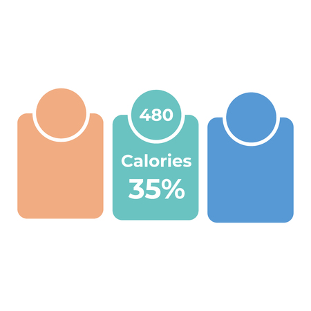 Labels calories ingredient information. Daily nutritional ingredient, calories  イラスト・ベクター素材
