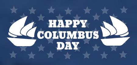 United States Columbus Day celebrate card. Happy Columbus Day vector illustration Illustration