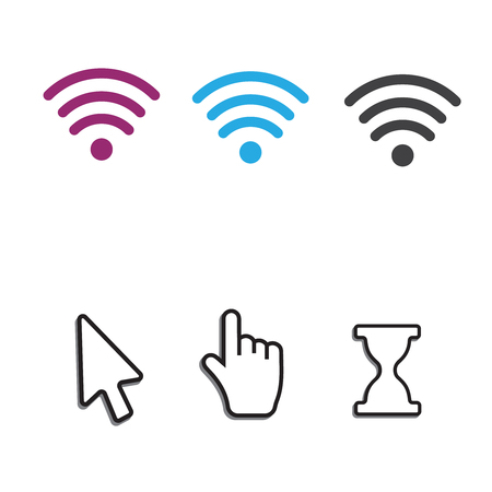Free wifi icons and wifi applications and Mouse computer cursor