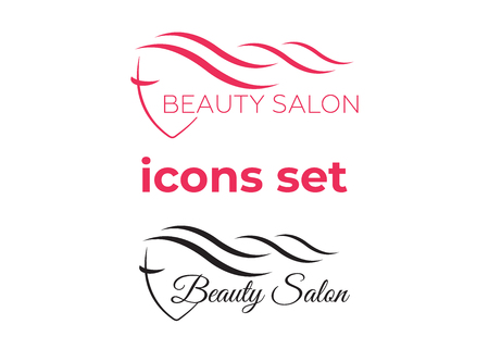 Beautiful woman template for hair salon, beauty salon, cosmetic Vektorgrafik