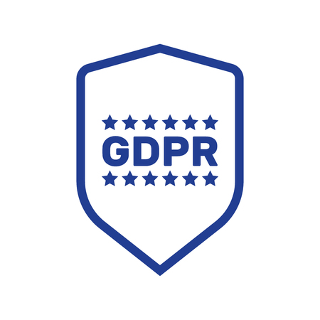 GDPR concept illustration. Idea of data protection. General rules for data protection GDPR 矢量图像
