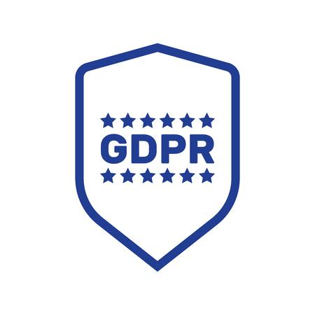 GDPR concept illustration. Idea of data protection. General rules for data protection GDPR Illustration
