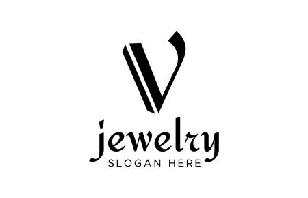 V  Design Template. letter V design vector