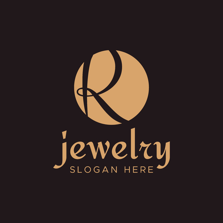 premium letter r design luxury r vector monogram