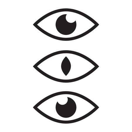 Oeil humain et symboles de vue. Surveillance de l'icône, supervision