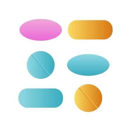 Medicine pills. Drugs vector. Antibiotic and vitamin pill. Pharmaceutical pill vector