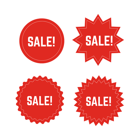 Discount stickers vector set. Special price. Special offer sale labels. Illustration