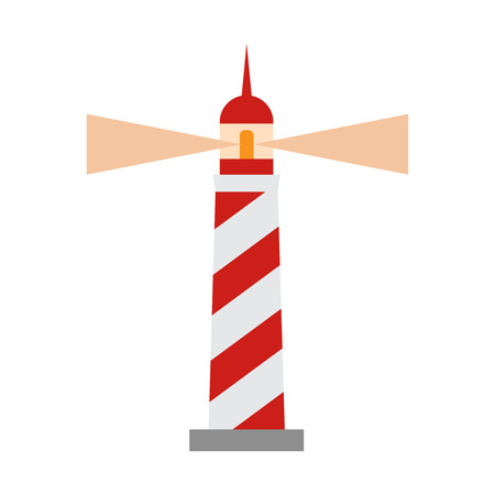 Cartoon lighthouse. lighthouse vector illustration. Sea lighthouse icon Иллюстрация