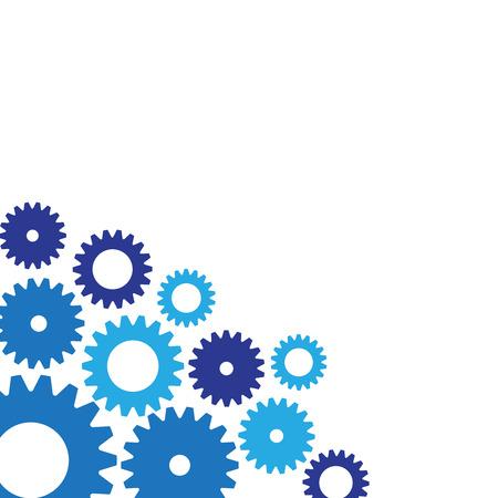 Gears technology vector background. Gear wheels mechanism banner