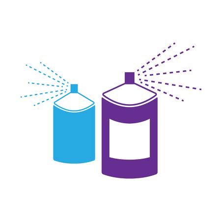 Spray aerosol bottle, graffiti vector. Spray aerosol in bottle