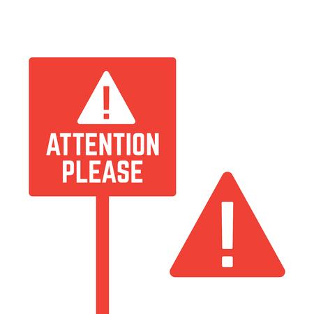 Attention please. Alert announcement, important advertisement banner 写真素材 - 127721202