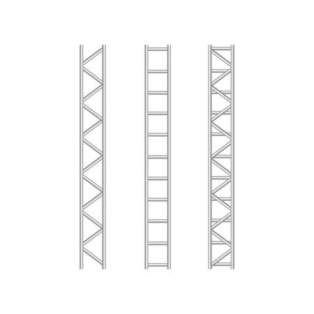 Steel truss girderstructure. Metal framework for billboard vector