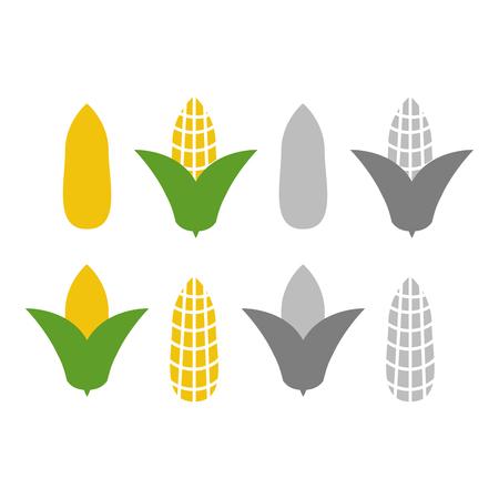Organic corn vector. Corn and corncob vegetable agriculture Ilustração