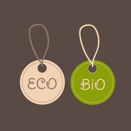 Farm organic eco price tags. Shop organic bio farm