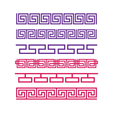 Ancient greek ornament vector. Greek border style