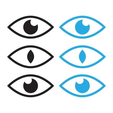 Human eye and view symbols. Icon oversight, supervision