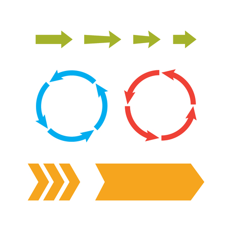 Arrow web icons. Next page navigation buttons. Interface arrow and circular Illustration