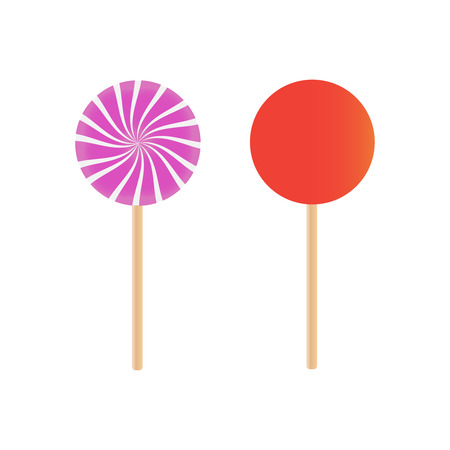Candy lollipops vector. Sweet sugar candy stick 写真素材 - 127721241