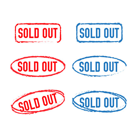Sold out stamps grunge texture. Badge Sold out 写真素材 - 127721243