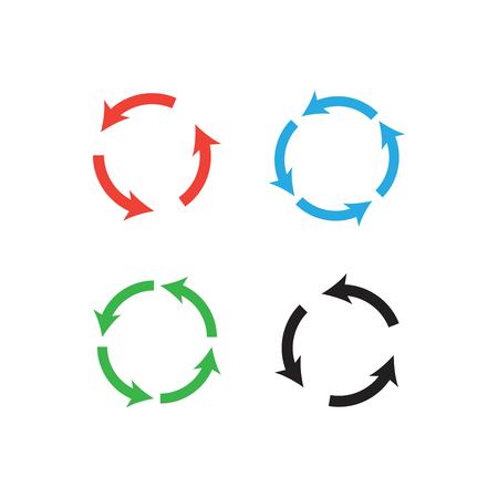 Round arrow vector symbols. Recycling simple arrows Ilustração