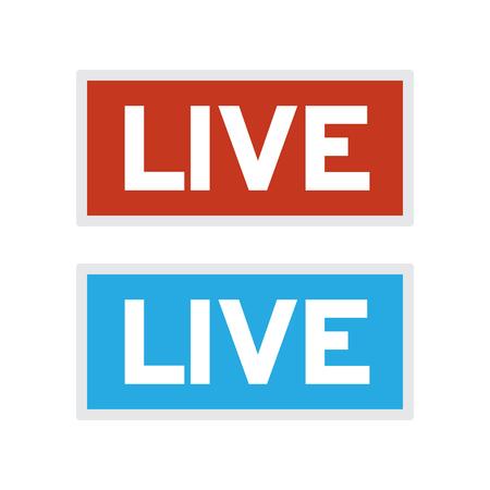 Live air sign. Live tv or radio symbol. Live broadcast