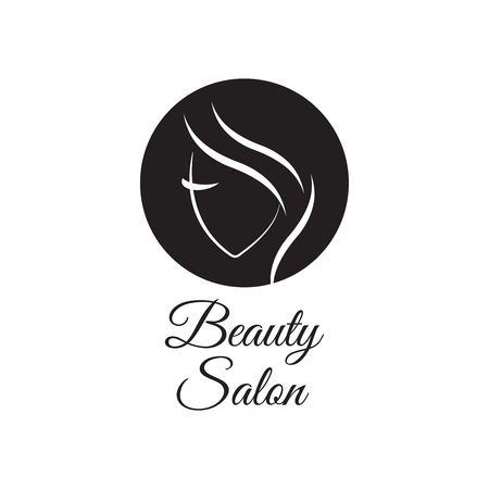 Beautiful woman template for hair salon, beauty salon, cosmetic