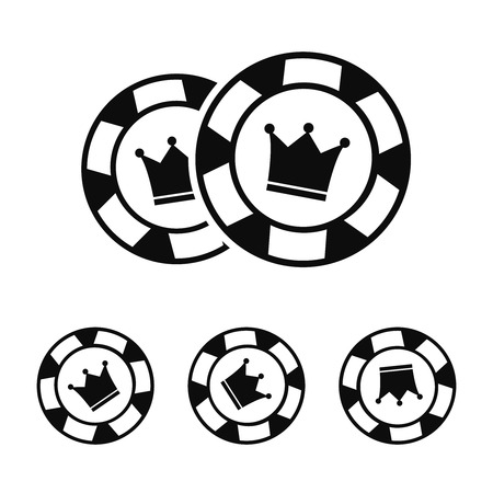 Casino vector sign set. Slot machine symbols. Lucky seven Vetores