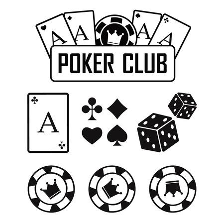 Casino vector sign set. Slot machine symbols vector