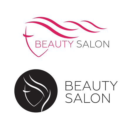 Woman face   template for hair salon vector.  hair vector