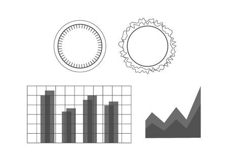 Futuristic user interface elements set 向量圖像