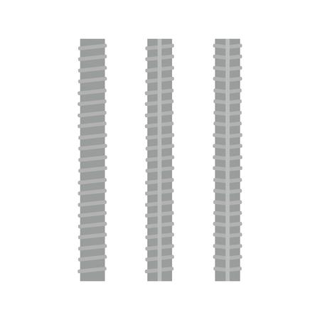 Steel rebars. Iron construction, armature vector illustration