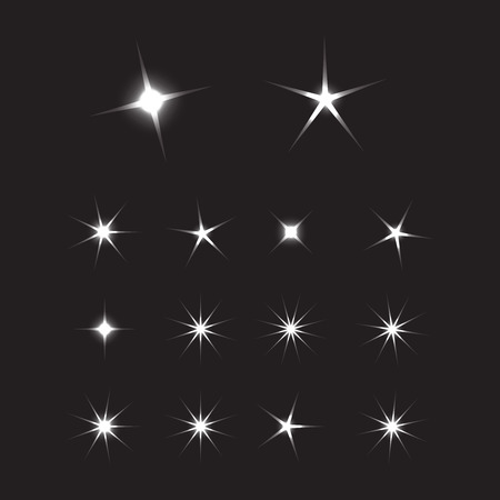 Rayons de soleil brillants. Fond d'étoiles brillantes. Signe lumineux d'étoile d'étincelle