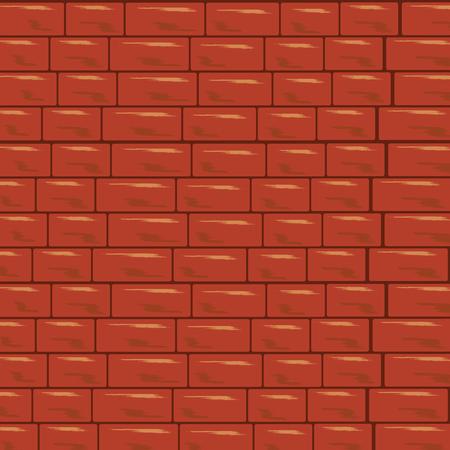 Red brick wall background. Pattern brick stone vector Ilustração