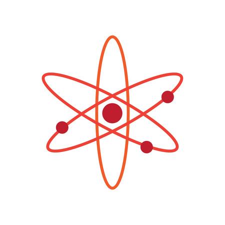 Atom-Logo. Nuklearer Vektor-Logo-Partikel. Atomabzeichen