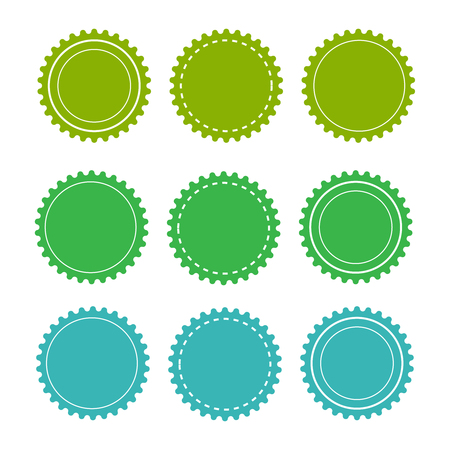 Eco green badges and labels. Organic badge background vector Vetores