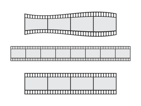 Cinema film strip roll 35mm blank slide frame vector set. Frame picture photography and cinema film strip frame illustration Stok Fotoğraf - 126478497