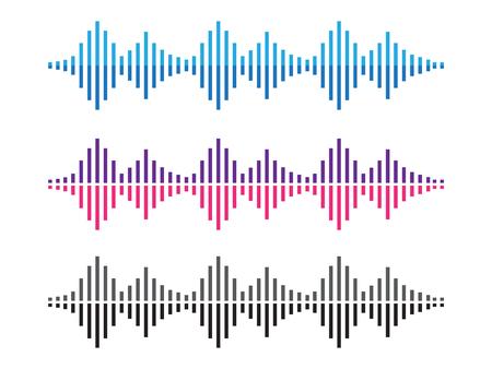 Amplitudenwellen. Musik-Sound-Sprachwelle. Dynamischer Equalizer