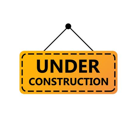 Under Construction Sign. Under construction website page Ilustração