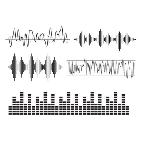 Sound waves concept. Sound waves vector. Sound waves sign and symbol in flat style Illustration